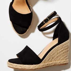 LOFT Wedges- Espadrilles with black suede